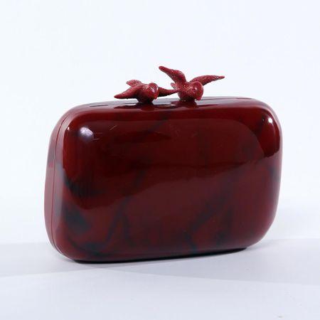 Clutch Pássaros Vermelha