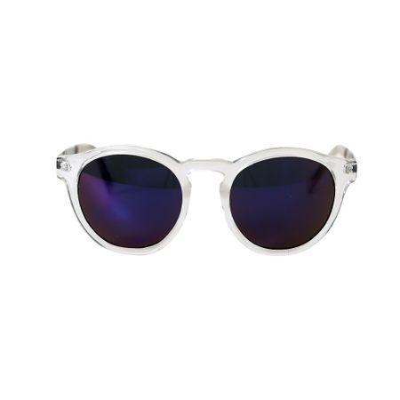Óculos Espelhado Roxo - Óculos Lente Espelhada Roxo Haste Transparente