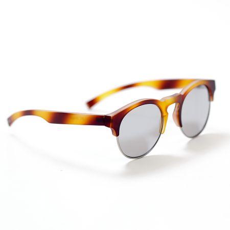 Óculos Haste Caramelo Lente Prata