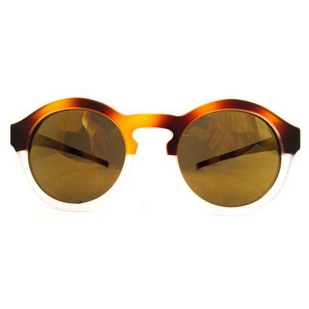 Óculos R Pequeno Caramelo-Transparente Fosco