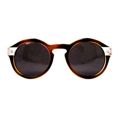 Óculos R Pequeno Marrom Com Transparente