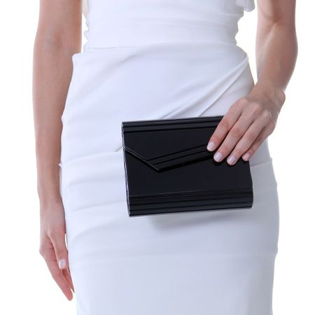 Clutch jimmy choo inspired preta