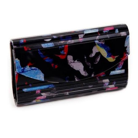 Clutch estampada pássaros
