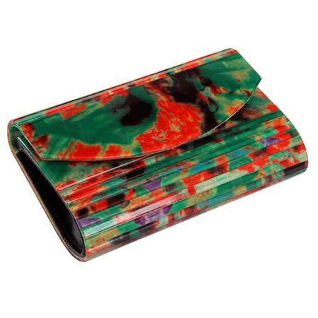 Clutch estampada verde