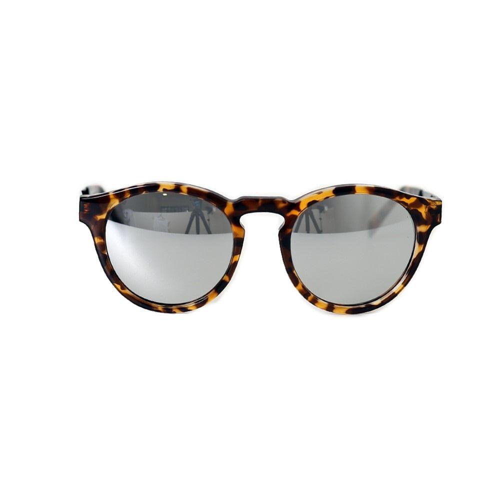 4c2bc917a Óculos Lente Espelhada Prata haste tartaruga - Oculos Espelhado Prata