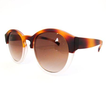 Óculos R Grande Caramelo-Transparente Fosco