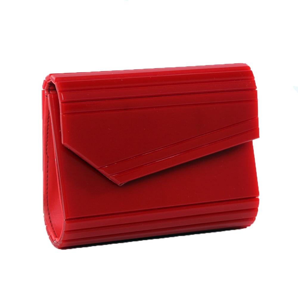 f6916319a Clutch acrílico vermelha - acbrazil