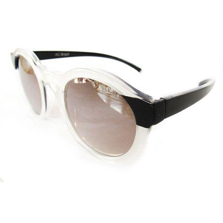 Óculos Redondo Médio Perolado