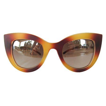 0a7036be26a52 Óculos De Sol Gatinho Caramelo