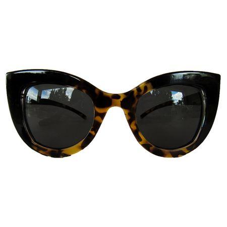 Óculos De Sol Gatinho Preto E Tartaruga
