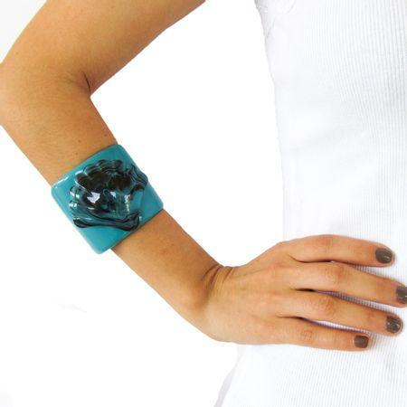 Bracelete Concha Azul Turquesa
