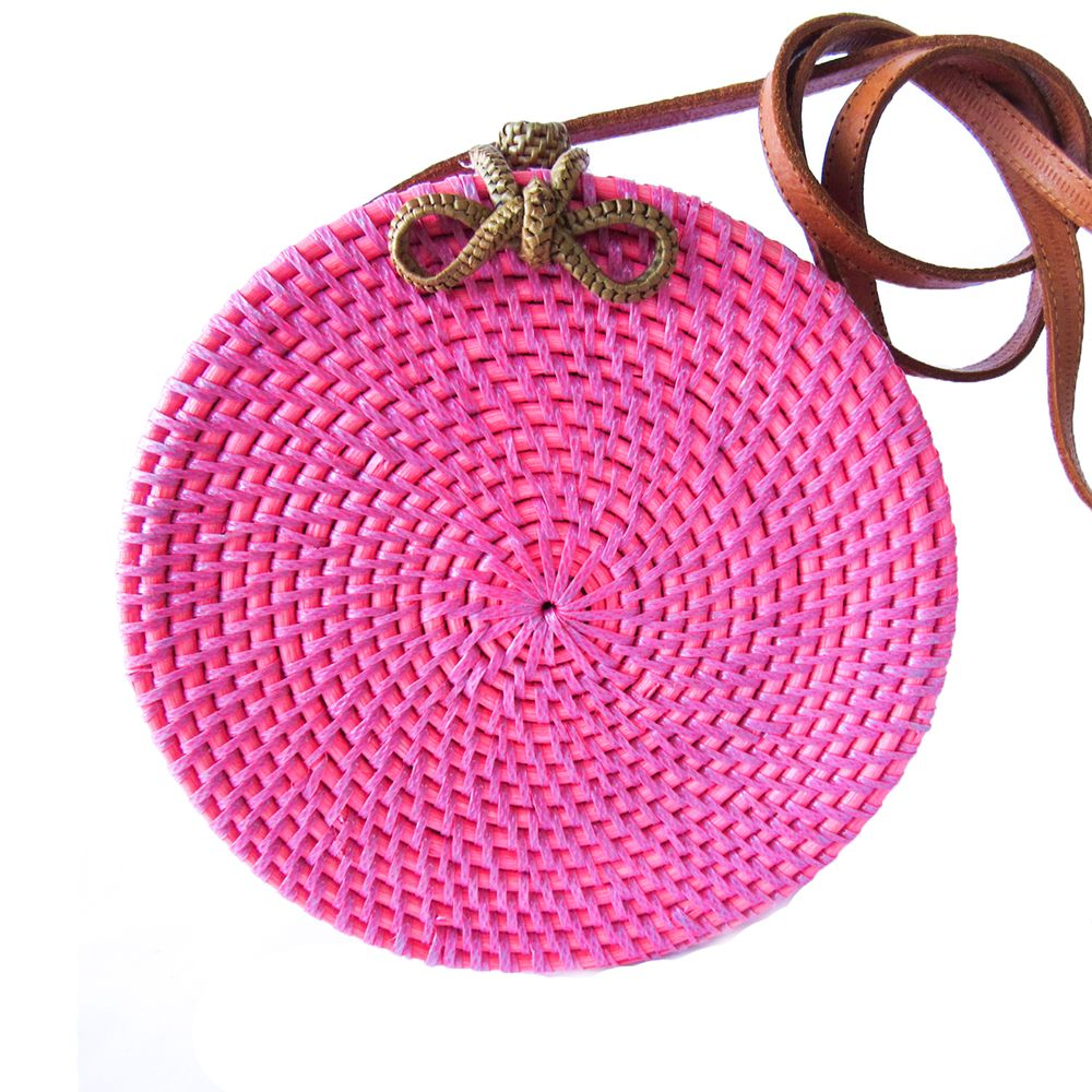 4bc094970 Bolsa Bali Redonda Rosa Neon - acbrazil