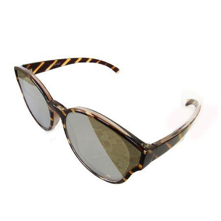 Óculos Preto Lente Plana Espelhada
