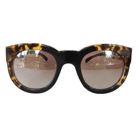 Óculos Quadrado Preto E Tartaruga
