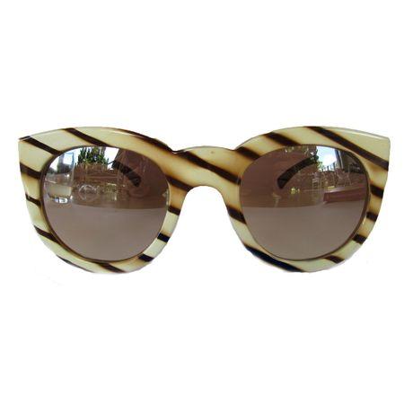 Óculos Quadrado Style Marfim Espelhado