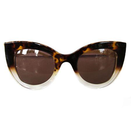dc15b8e65 Óculos De Sol Gatinho Degrade Haste Marfim