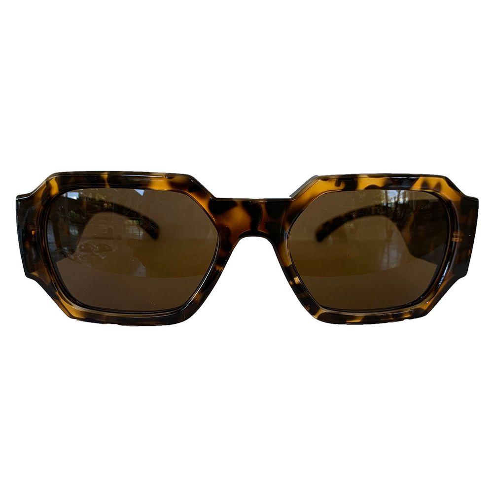 Óculos Retangular Rosa Transparente - acbrazil